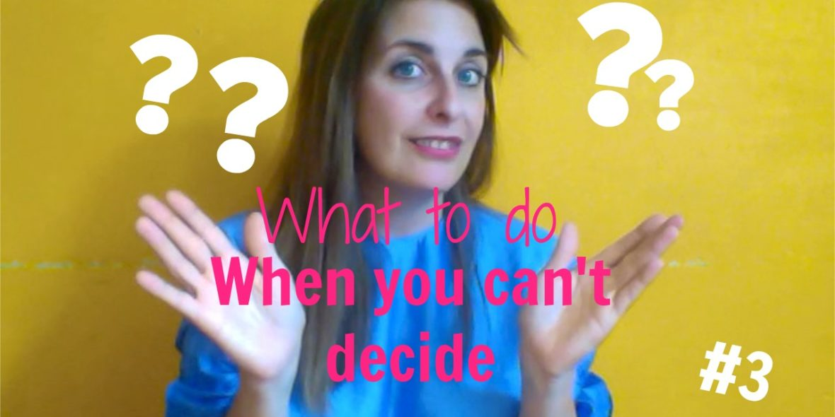 Rike Pätzold Compass Coach Vidcast What to do when you can't decide Vidcast #3